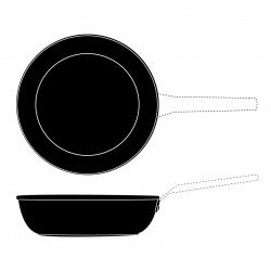 SECOND CHOIX - DEEP FRYPAN 24 CM INDUCTION