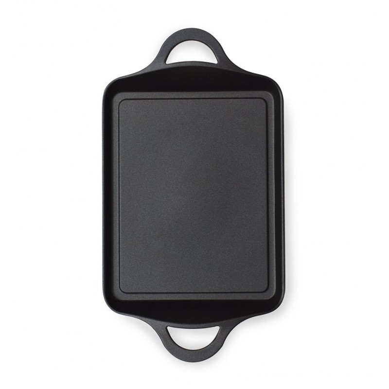 Plancha with handles BLACK