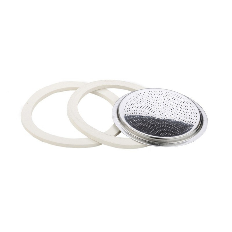 4 CUP: 2 GASKETS + FILTER - ISABELLA COFFEE MAKER