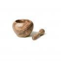 Mortero y maza de olivo. Calidad artesanal
