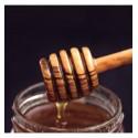 Cuchara de olivo para miel
