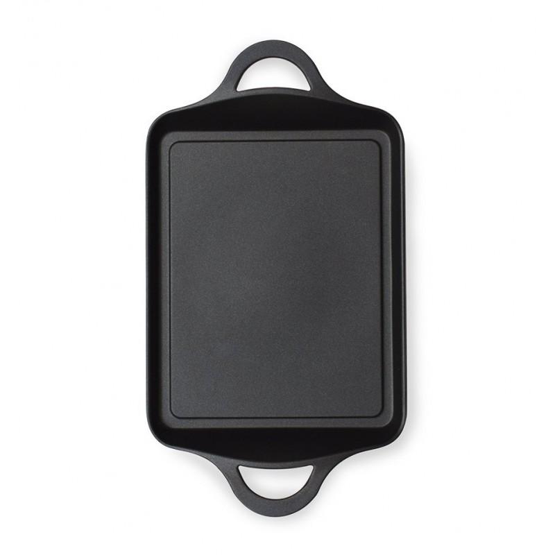 Plancha with handles BLACK