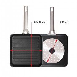 2ND CHOIX - GRILL 26 CM INDUCTION